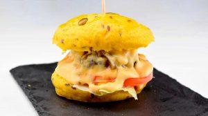 Mini hamburguesa de buey
