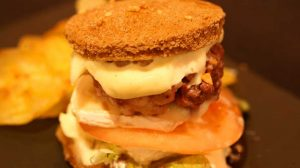 Mini hamburger croustillant